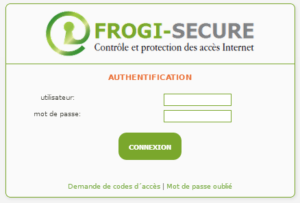 Authentification Portail Utilisateur Mire Login Frogi Secure